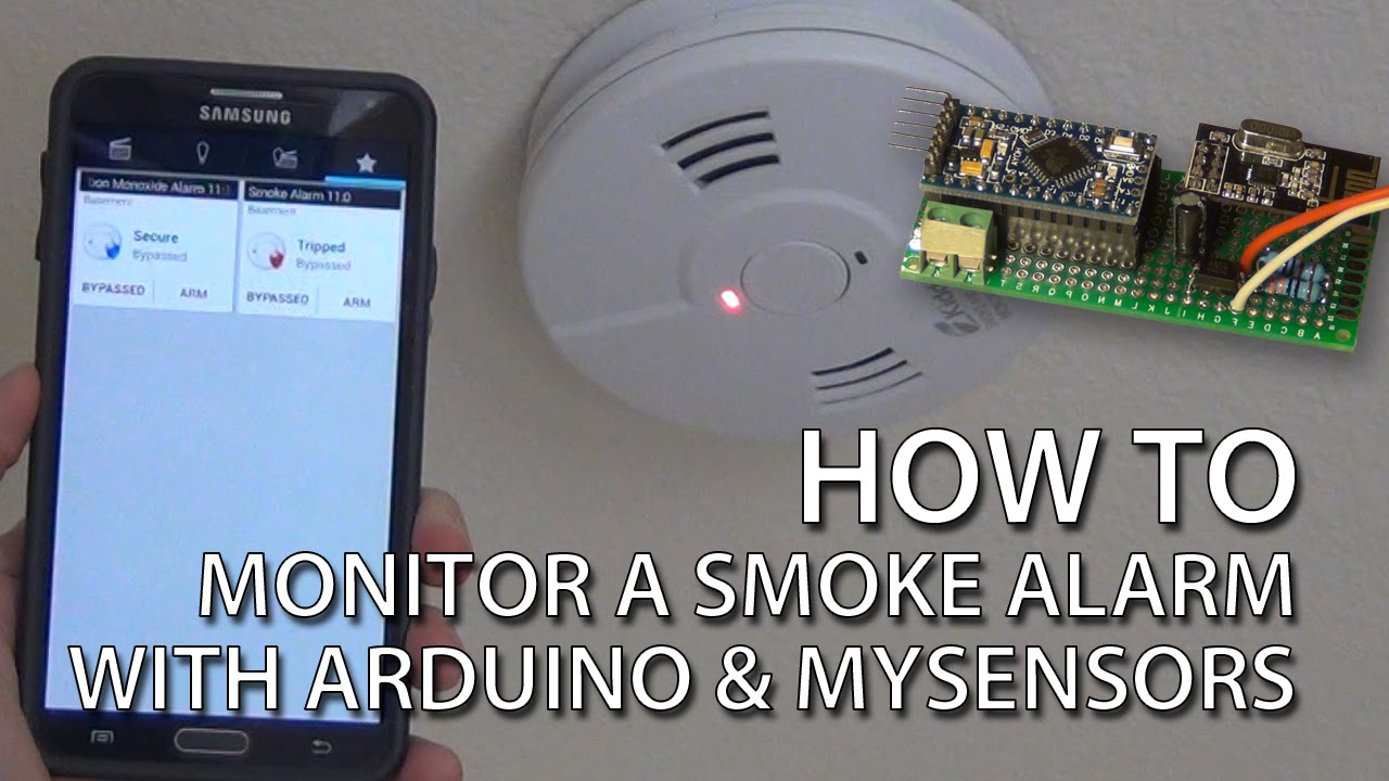 how to smoke alarm monitoring with arduino and mysensors youtube. Black Bedroom Furniture Sets. Home Design Ideas