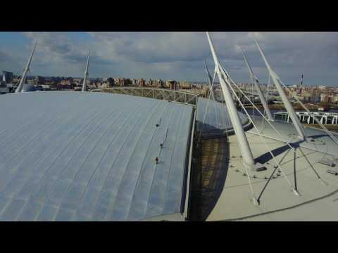 Zenit Arena roof patchwork