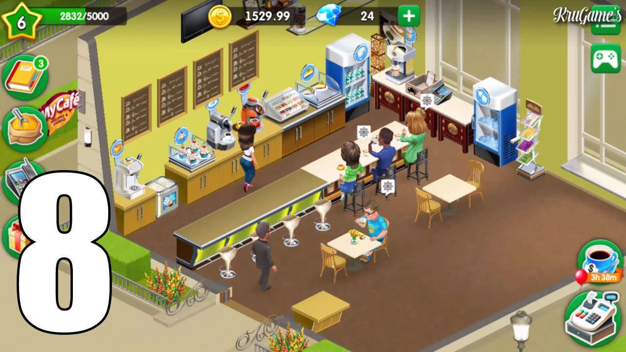 my cafe recipes stories android gameplay 8 youtube. Black Bedroom Furniture Sets. Home Design Ideas