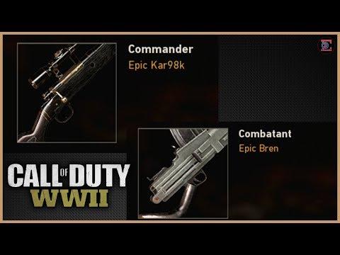 UNLOCKING FREE EPIC KAR98K & BREN LMG in Call of Duty: WWII