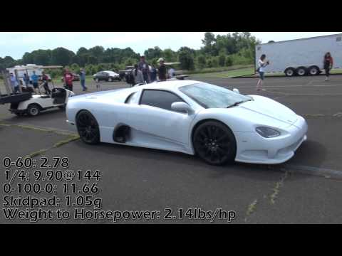 SSC Ultimate Aero #15 1200HP Showoff startup, air brake