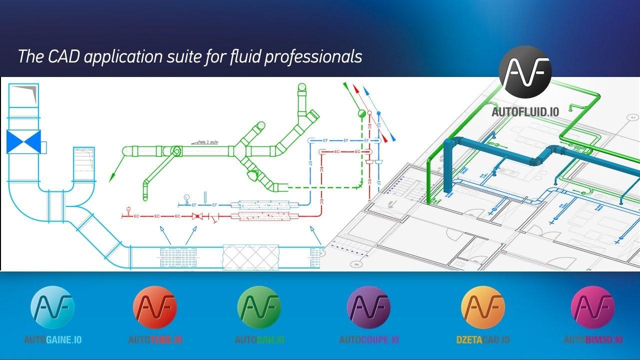AUTOFLUID 10: MEP software - HVAC and Plumbing 2D/3D design - YouTube | Hvac Drawing Freeware |  | YouTube