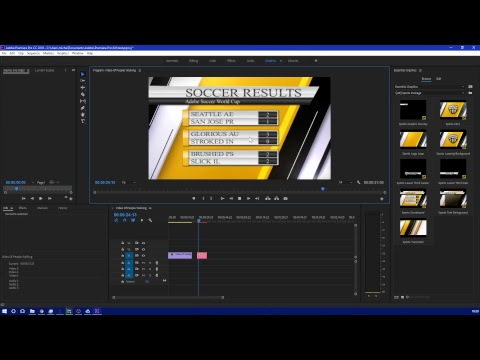 Adobe Premiere Pro 2018 CC Sports Package [Essential Graphics]