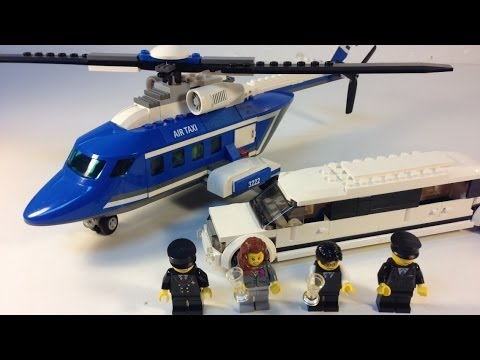 LEGO City 3222 Limousine and Helicopter from 2010 - review