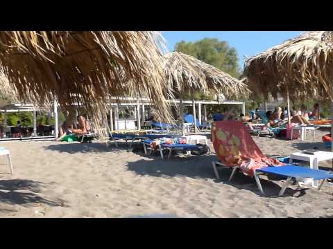 Strandvakantie Cavo Christo in Petra eiland Lesbos Griekenland. Beach holiday at Lesbos Greece.