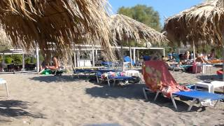 Strandvakantie Cavo Christo in Petra eiland Lesbos Griekenland. Beach holiday at Lesbos Greece.