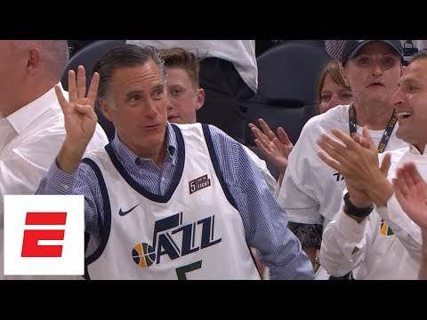 Mitt Romney taunts Russell Westbrook after Westbrook picks up fourth foul vs. Jazz | ESPN