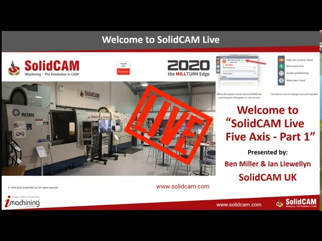 SolidCAM LIVE - Five Axis - Part 1