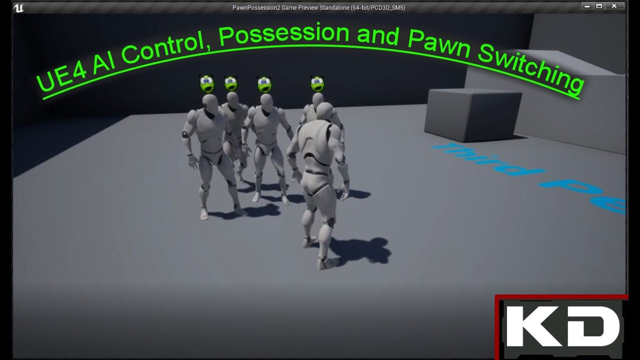UE4 AI Control, Possession and Pawn Switching