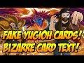 FAKE YUGIOH CARDS! BIZARRE CARD TEXT!