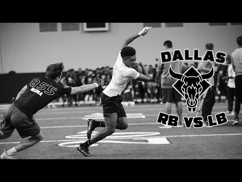 Nike Football's The Opening Dallas 2017 | RB vs LB 1 on 1's
