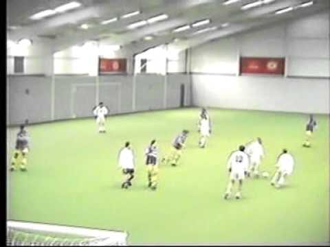 football at the cliff...2.. scullys job lot v the man utd staff team..!!! 1990s ...2