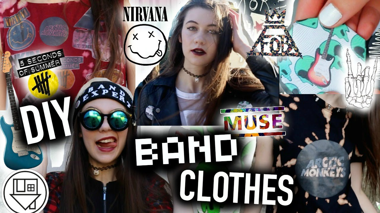 Diy band clothes no sew t shirts beanie dress and for Making band t shirts