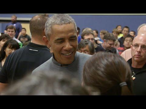 President Obama Visits Dillingham Middle School