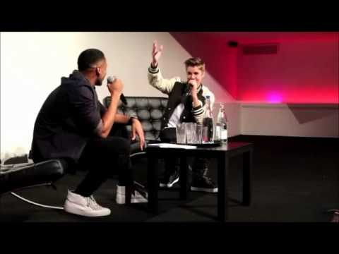 Justin Bieber and Reggie Yates Q&A in London.