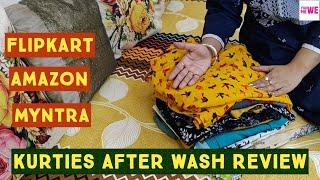 Flipkart Amazon Kurties After Wash Review   Branded Kurties   Myntra Kurties