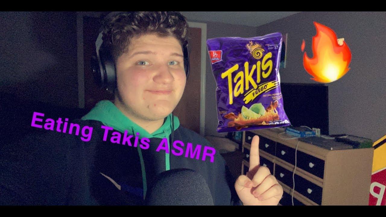 {ASMR} Eating Takis (Mukbang)