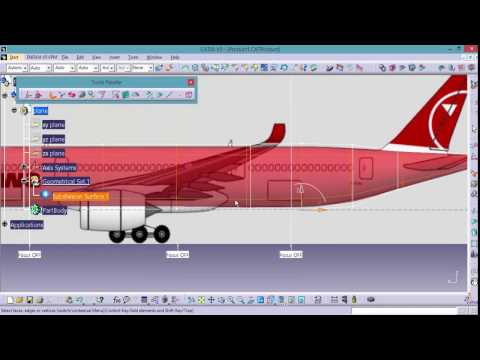 CATIA | AIRBUS A350 PLANE DESIGN | SUBDIVISION SURFACE | IMAGINE AND SHAPE TUTORIAL FOR BEGINNERS