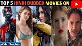 Top 5 Hollywood Hindi Dubbed Movies Available On YouTube