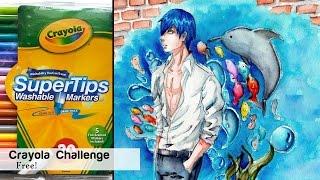 Crayola Challenge! Speedpaint of Haru from Free!