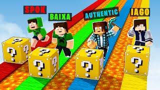 Minecraft : CORRIDA DE LUCKY BLOCK MAIS ENGRAÇADA DO MINECRAFT !