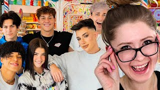 Charli, Larray & James Took Over A Candy Store For The Day REACTION w WES & STEPH!!