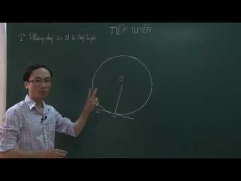 Tiếp tuyến đường tròn (Toán 9 học kì 1)