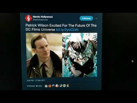 Patrick Wilson Excited for Future DC Films Universe
