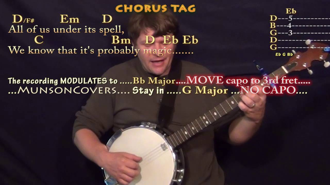 Rainbow Connection Muppet Movie Banjo Cover Lesson With Chords