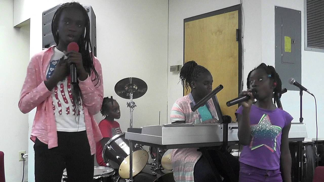 Girls just enjoying in the Lord for praise and worship