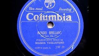 Magda Tagliafero - Weber : Rondo Brillant op.62 (1936)