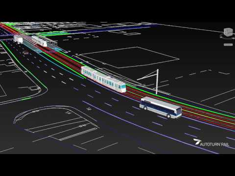 Light Rail Transit track design and analysis - CAD