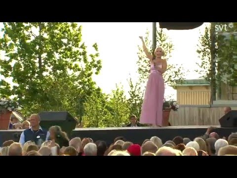 Petra Marklund - Intro, Stockholm i mitt hjärta, Händerna mot himlen (Allsång på Skansen 2014)