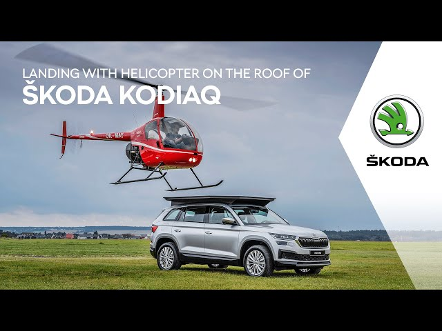 ŠKODA KODIAQ: Landing on its roof with a helicopter