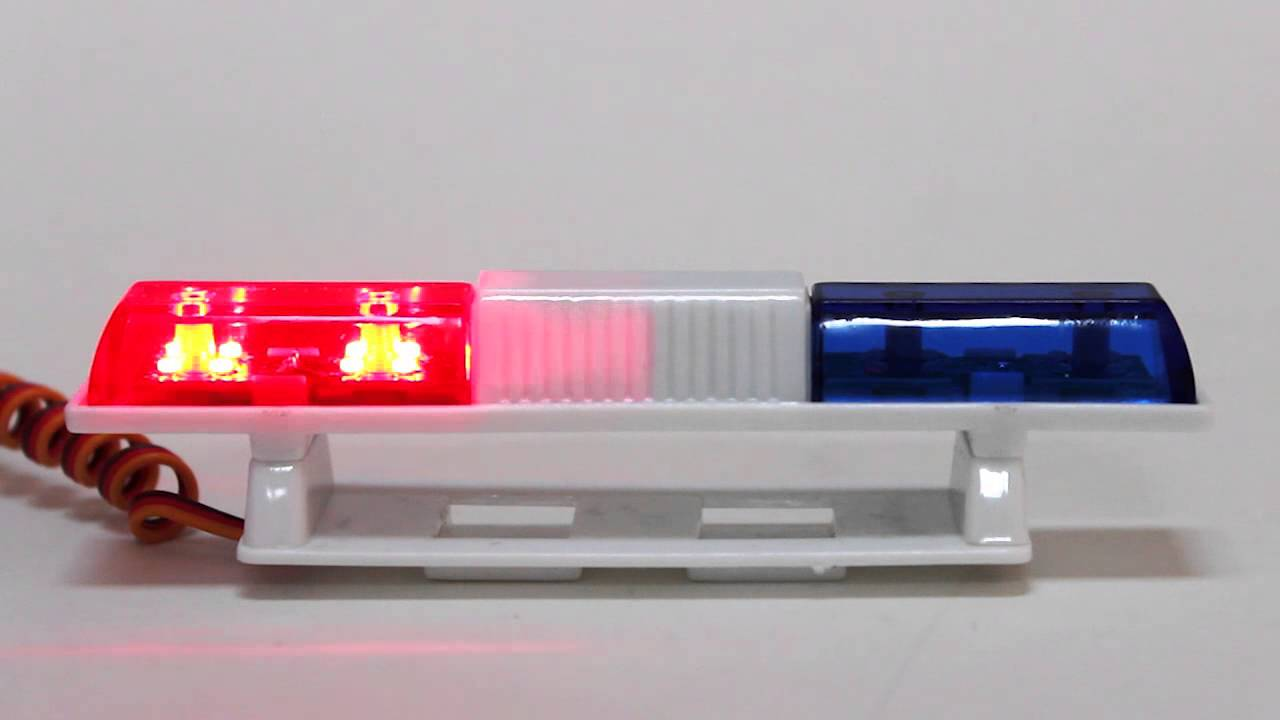 Rc police led light bar redblue great hobbies youtube aloadofball Image collections