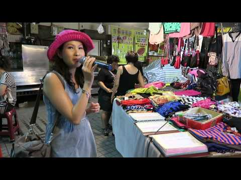 Singing karaoke at Second Market 第二市場 in Taichung