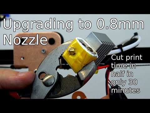 How to swap your 3D printer's nozzle - 0.4mm to 0.8mm Nozzle Upgrade!