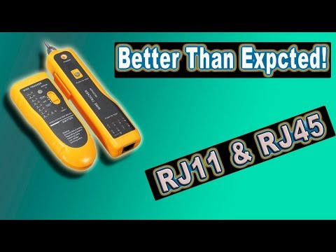 Wire Tracker, Unboxing and Video Demonstration (RJ11, RJ45, circuit tester)