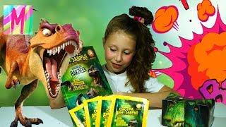 Коллекция наклеек Динозавры в ДИКСИ  новые наклейки у Миланы