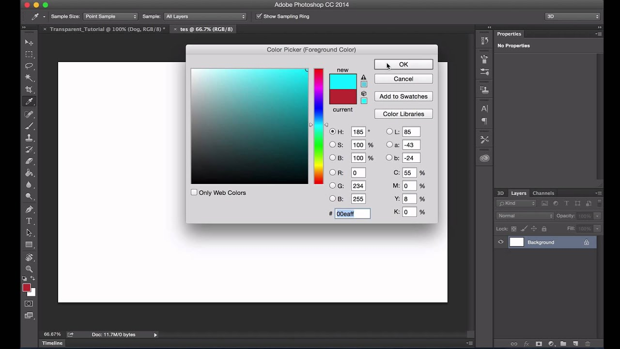 How to make a transparent Image In PhotoShop CC 2015