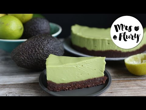 Avocado Cheesecake vegan, glutenfrei, ohne Zucker | No bake Rezept | Mrs Flury