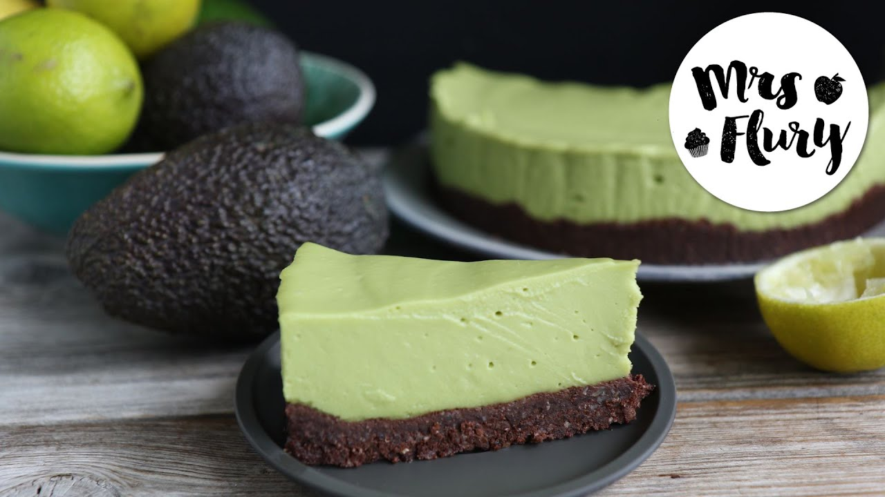 Avocado Cheesecake Vegan Glutenfrei Ohne Zucker No Bake Rezept