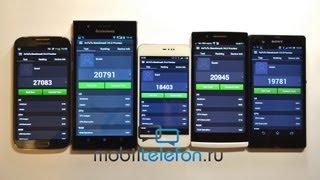 Тест AnTuTu 4.0: Samsung Galaxy S4, Sony Xperia Z, Oppo Find 5, Meizu MX2, Lenovo K900