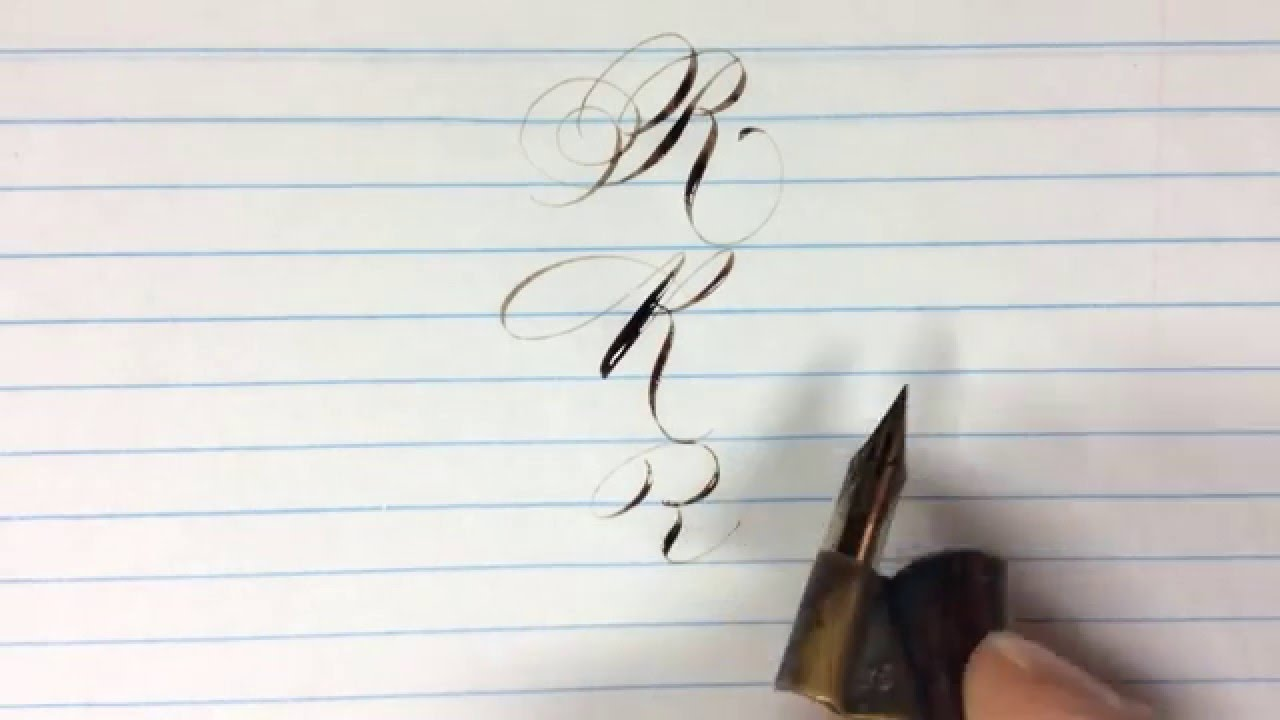 Real Time Pointed Pen Calligraphy Practice The Letter R