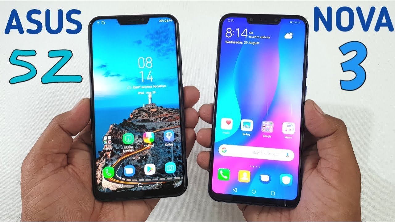 Huawei Nova 3 vs Asus Zenfone 5Z Speed Test !