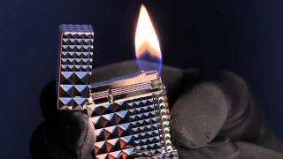 S.T. Dupont Palladium Diamond Head Ligne 2 Lighter