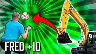 Top 10 - Jogaram bola com uma escavadeira!