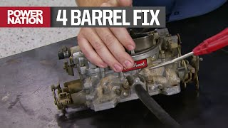 The team shows how to save cash by overhauling a Edelbrock AFB-style 4 barrel performance carb. #carburetor #musclecar Check out the PowerNation store ...