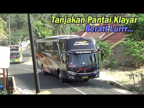 Banyak Bus Dan Kedaraan Kecil Nyaris Gak Kuat Di Tanjakan Pantai Klayar Ini