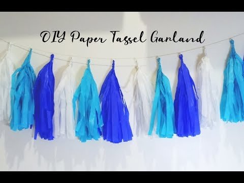 My DIYs: Paper Tassel Garland ♥ The Newbie Mommy ♥